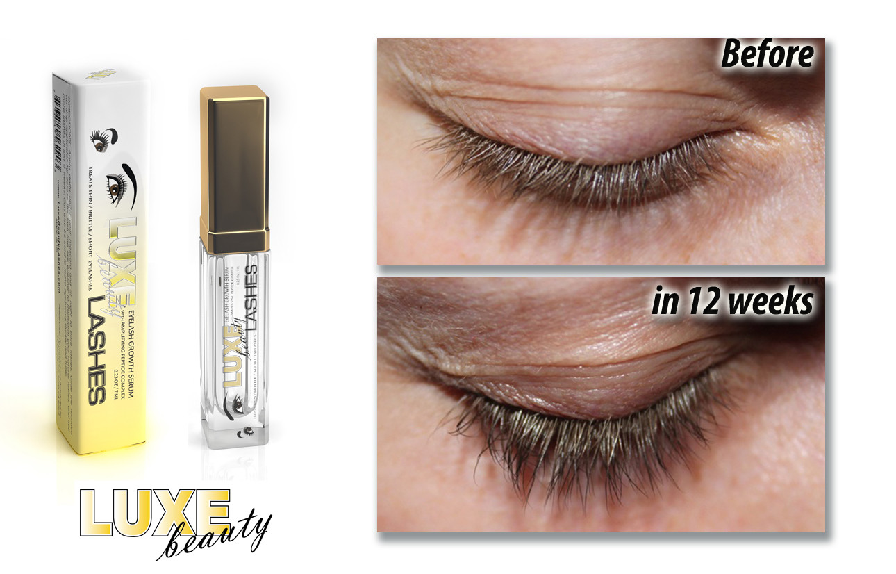 Luxe Beauty Lashes Growth Enhancing Serum 023 Oz Green Touch Beauty